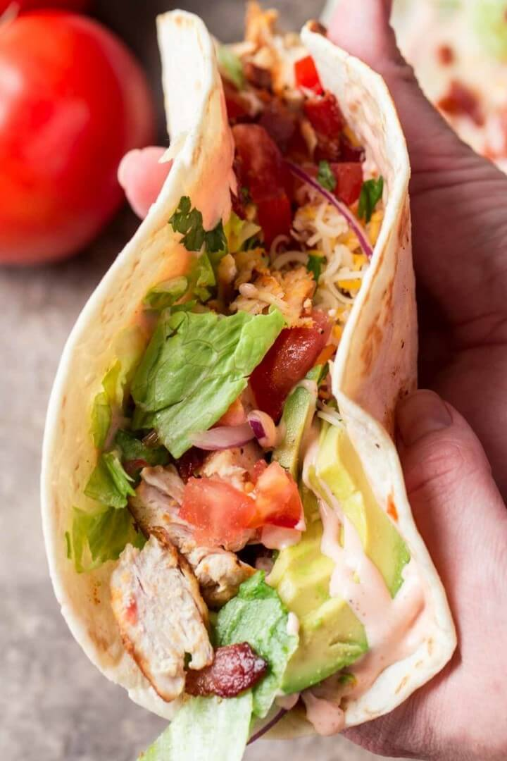 Easiest Chicken Wrap Recipe