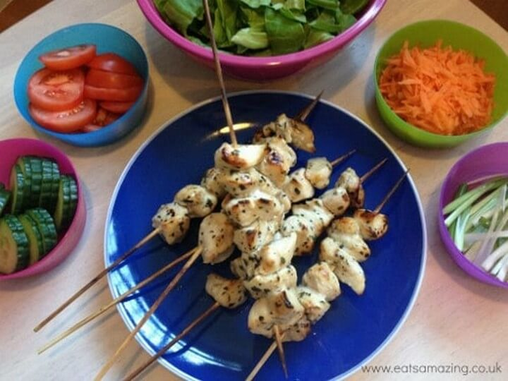 Easy Recipes for Kids Simple Chicken Kebabs