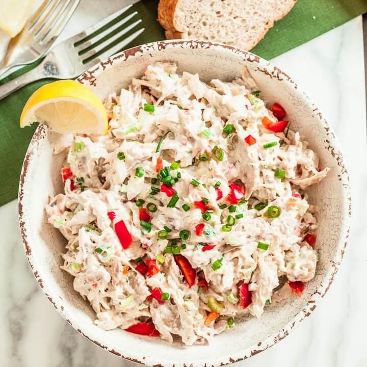 Healthier Rotisserie Chicken Salad