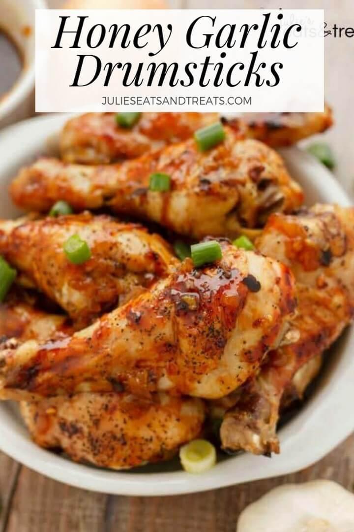 Honey Garlic Chicken Drumsticks Recipe