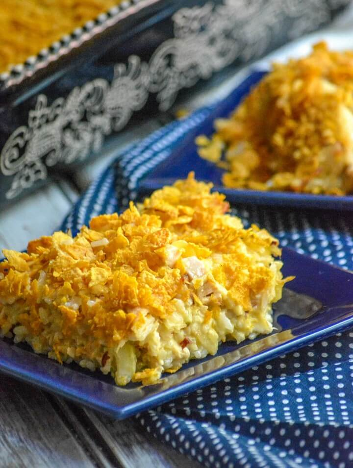 Rotisserie Chicken Rice Casserole