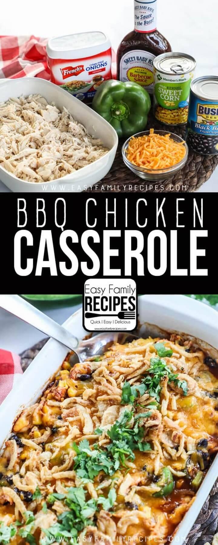 Shredded BBQ Chicken Casserole
