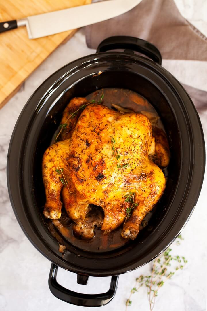 Slow Cooker Rotisserie Chicken 1
