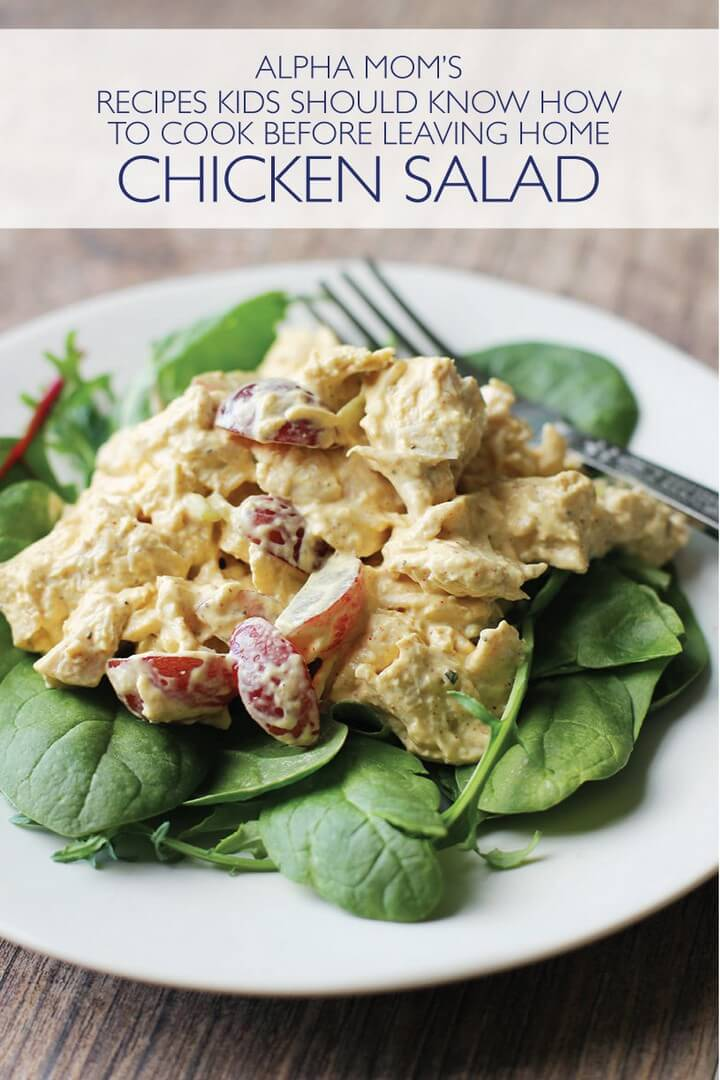 Teach Kids to Make Chicken Salad