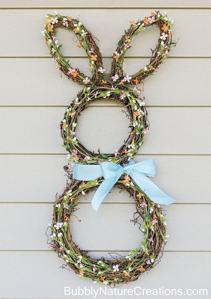 DIY Bunny Burlap Wreath