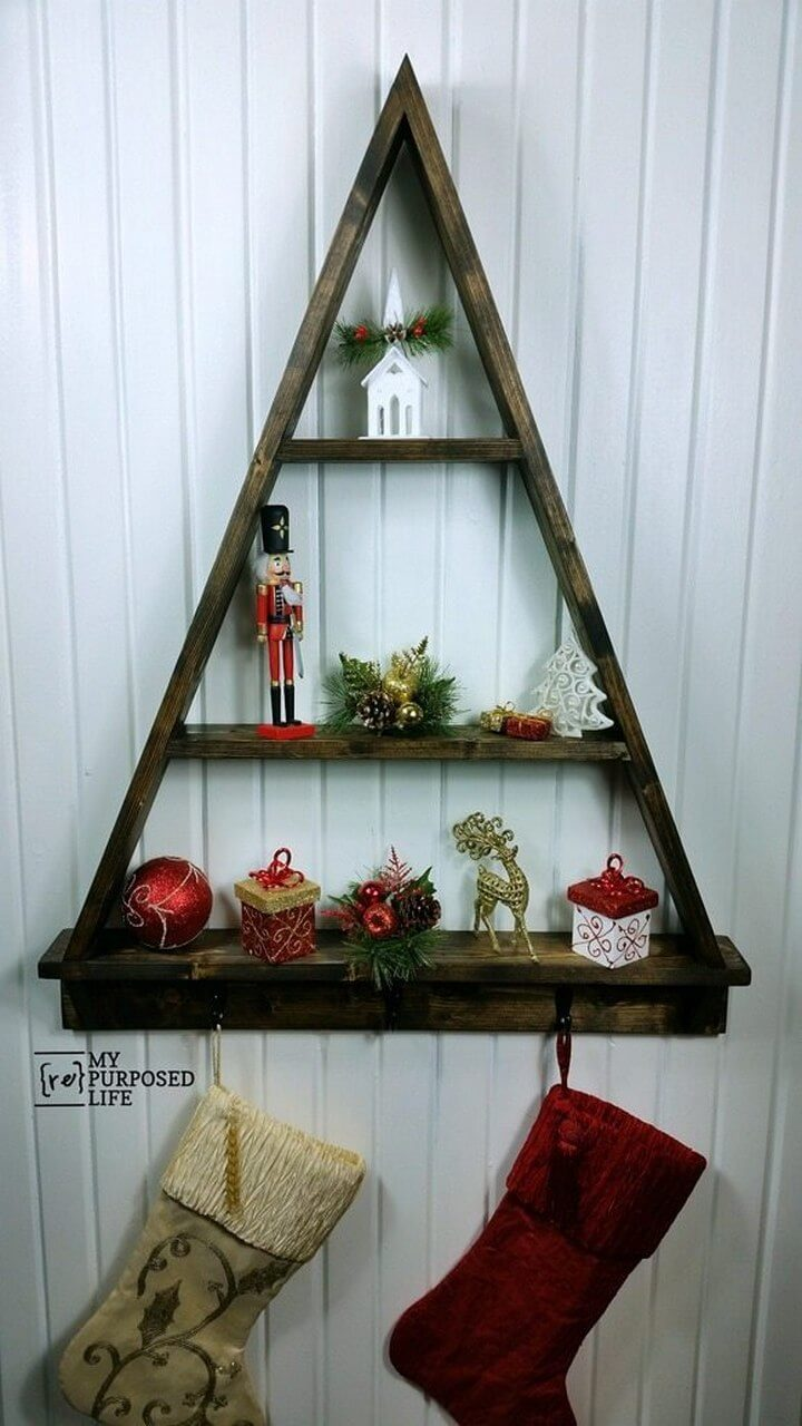 DIY Christmas Tree Shelf