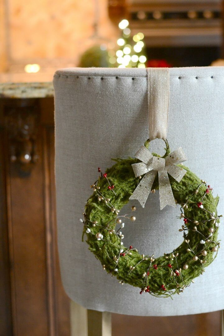 DIY Christmas Wreaths for Dining Chairs