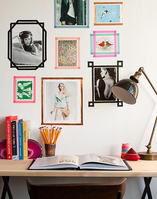 DIY Dorm DIY Tape Picture Frames