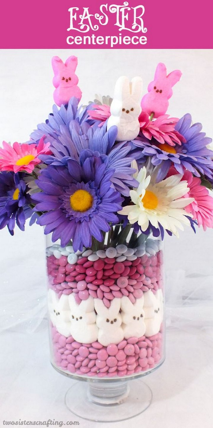 DIY Easter Peeps Centerpiece
