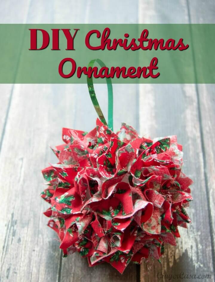 DIY Fabric Christmas Ornament