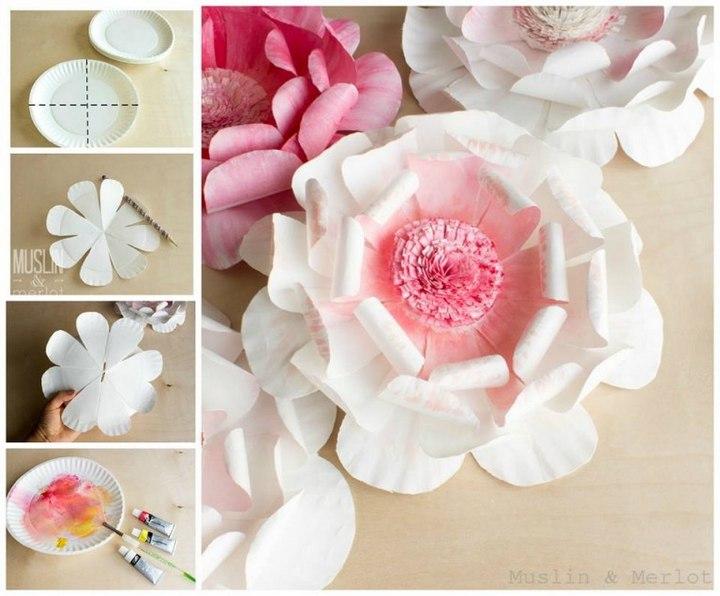 DIY Paper Plate Flowers