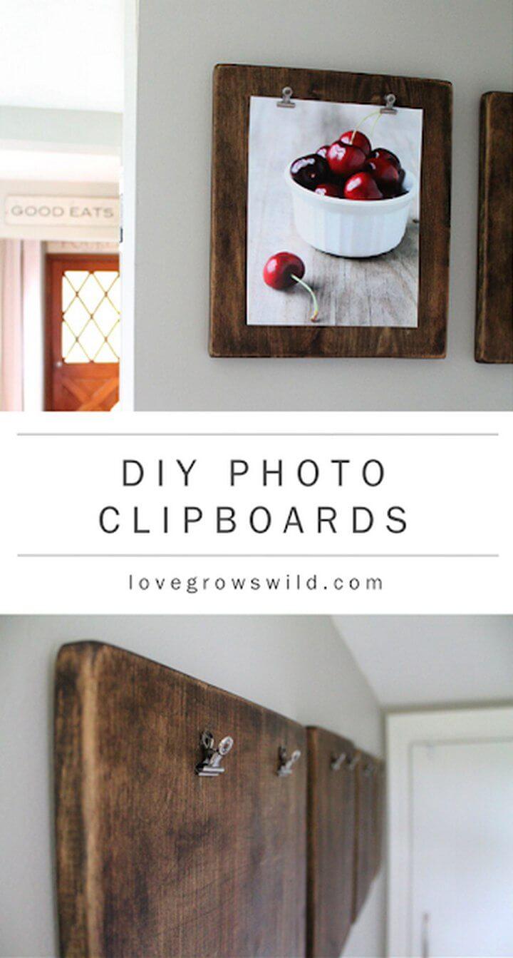 DIY Photo Clip Boards