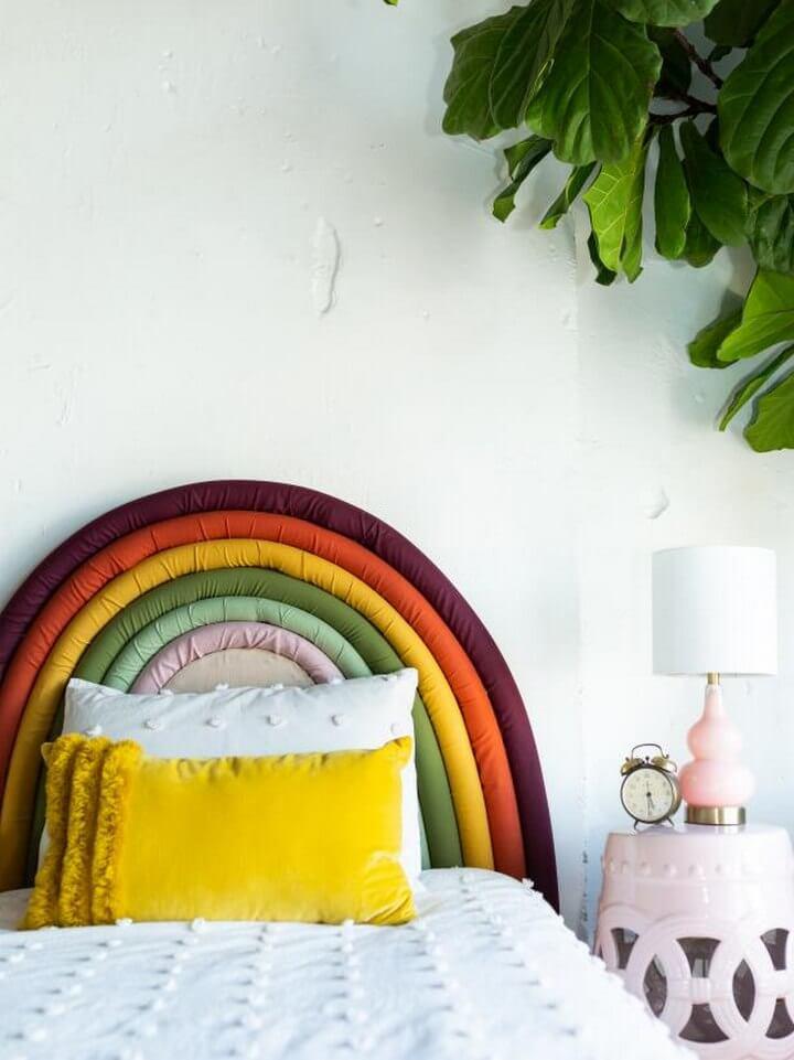 DIY Rainbow Pillow