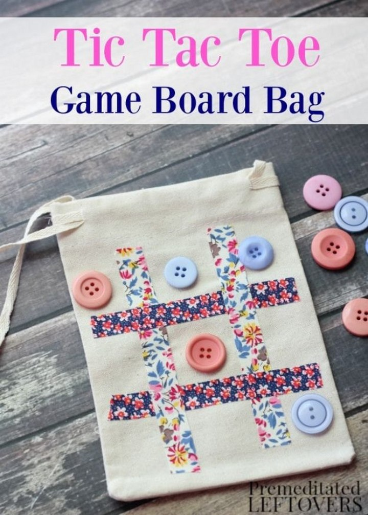 DIY Tic Tac Toe Travel Game Bag
