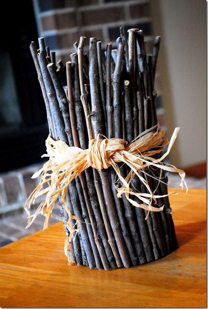DIY Twig Vase