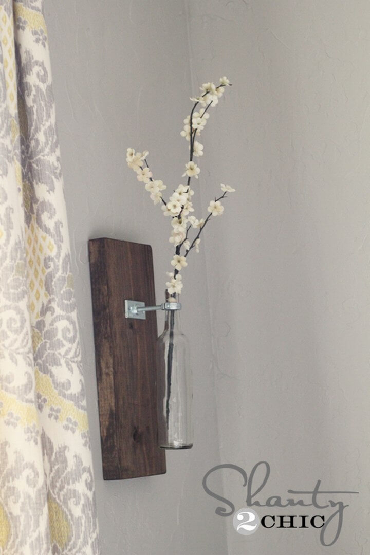 DIY Wind Bottle Wall Vase