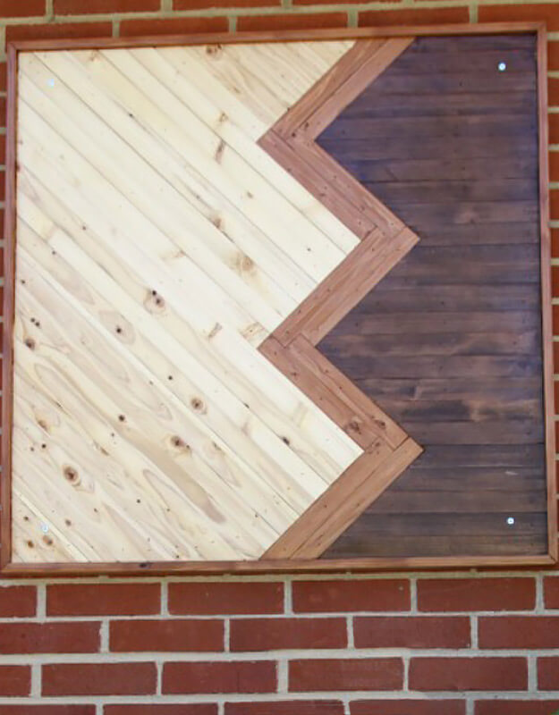 DIY Wood Chevron Wall Art