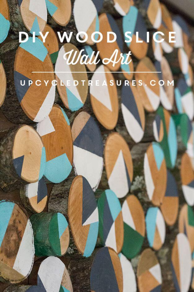 DIY Wood Slice Wall Art