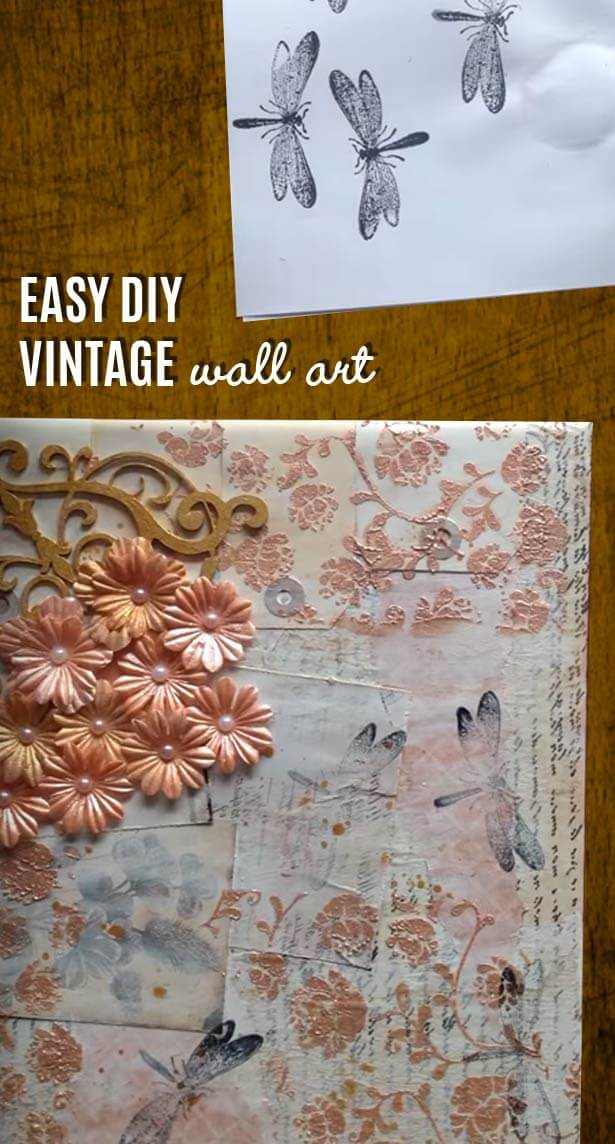Easy DIY Vintage Wall Art