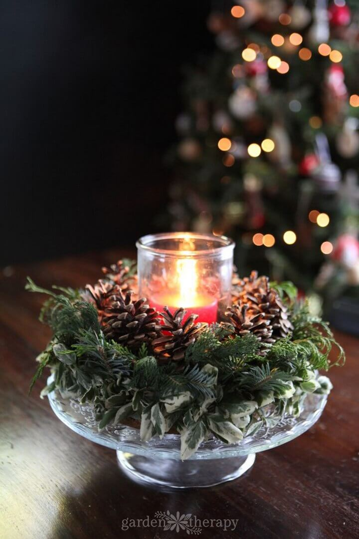 Gather Around this DIY Christmas Candle Wreath