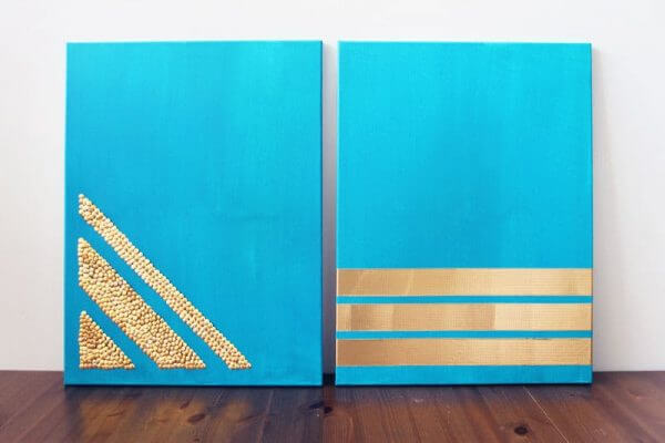 Gold Canvases Wall Art DIY