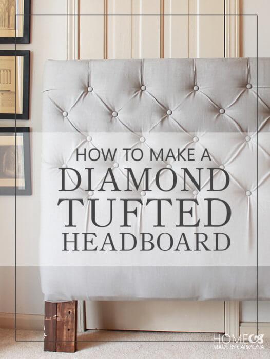 Make a Diamond Tufted Headboard