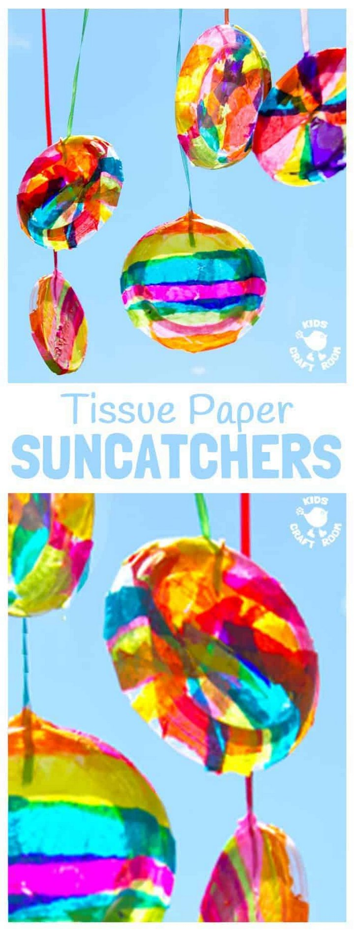 Tissue Paper Suncatchers Pin DIY