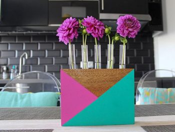Color Blocked Test Tube Vase