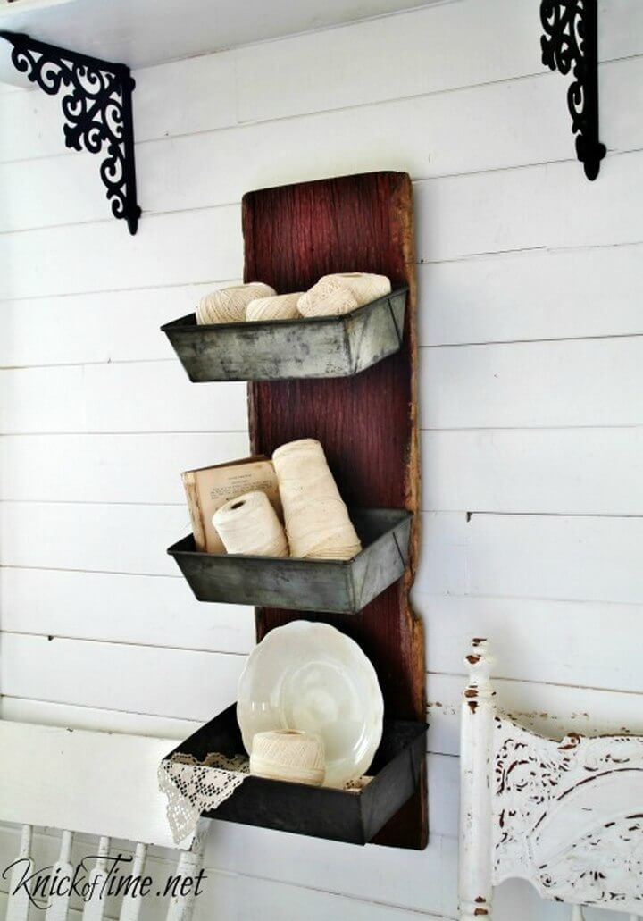 DIY Barn Wood Bread Tins Wall Bins