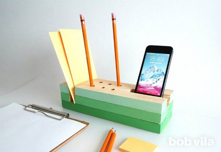 DIY Colorful Desk Organizer