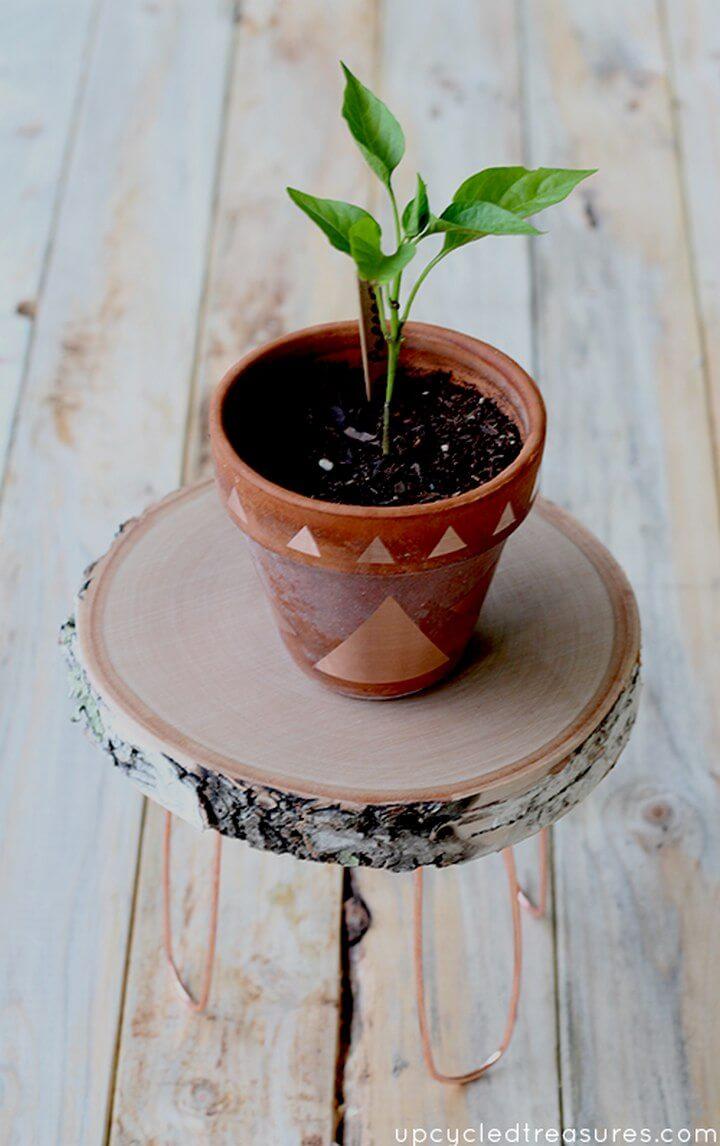 DIY Rustic Modern Plant Stand