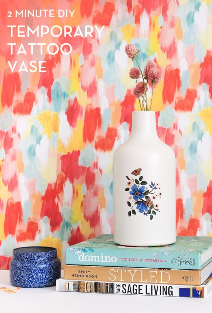 DIY Temporary Tattoo Vase