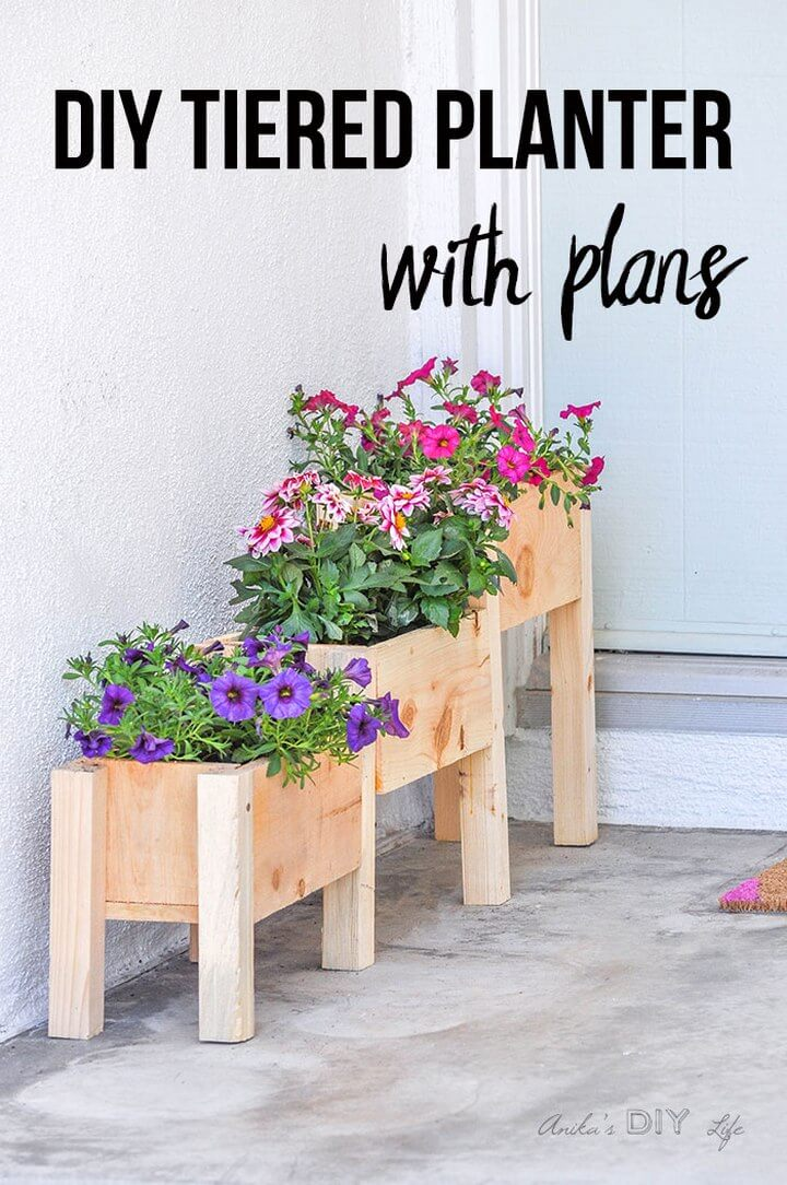 DIY Tiered Planter Box Plans