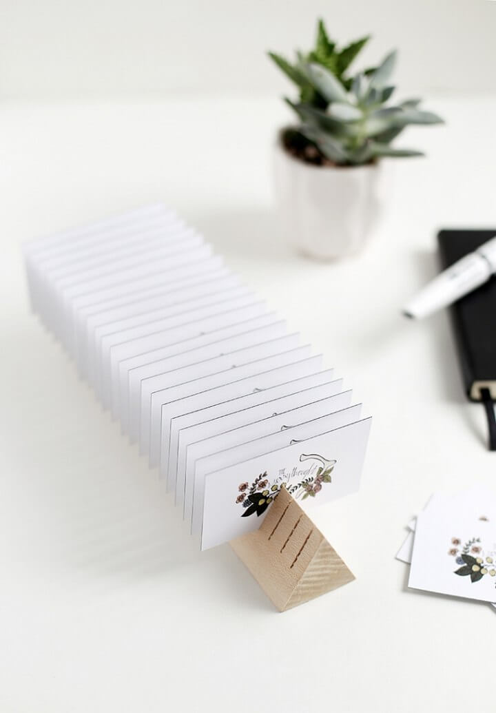 DIY Wood Business Card Holder