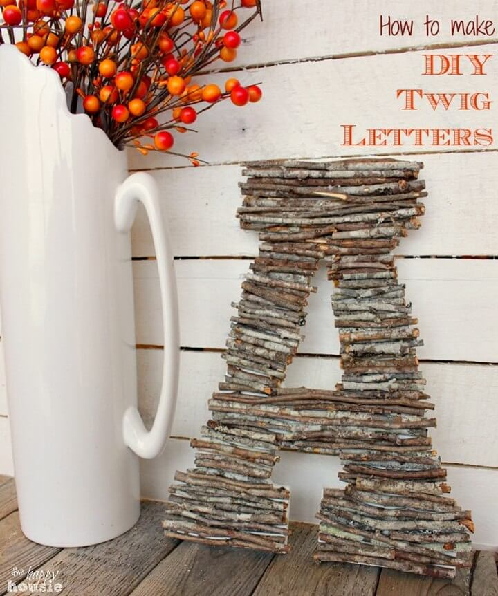 How to Make DIY Twig Letters