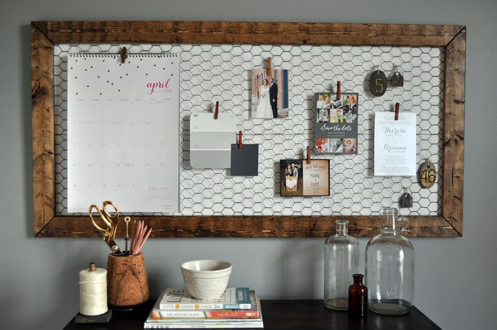 Office Memo Board DIY