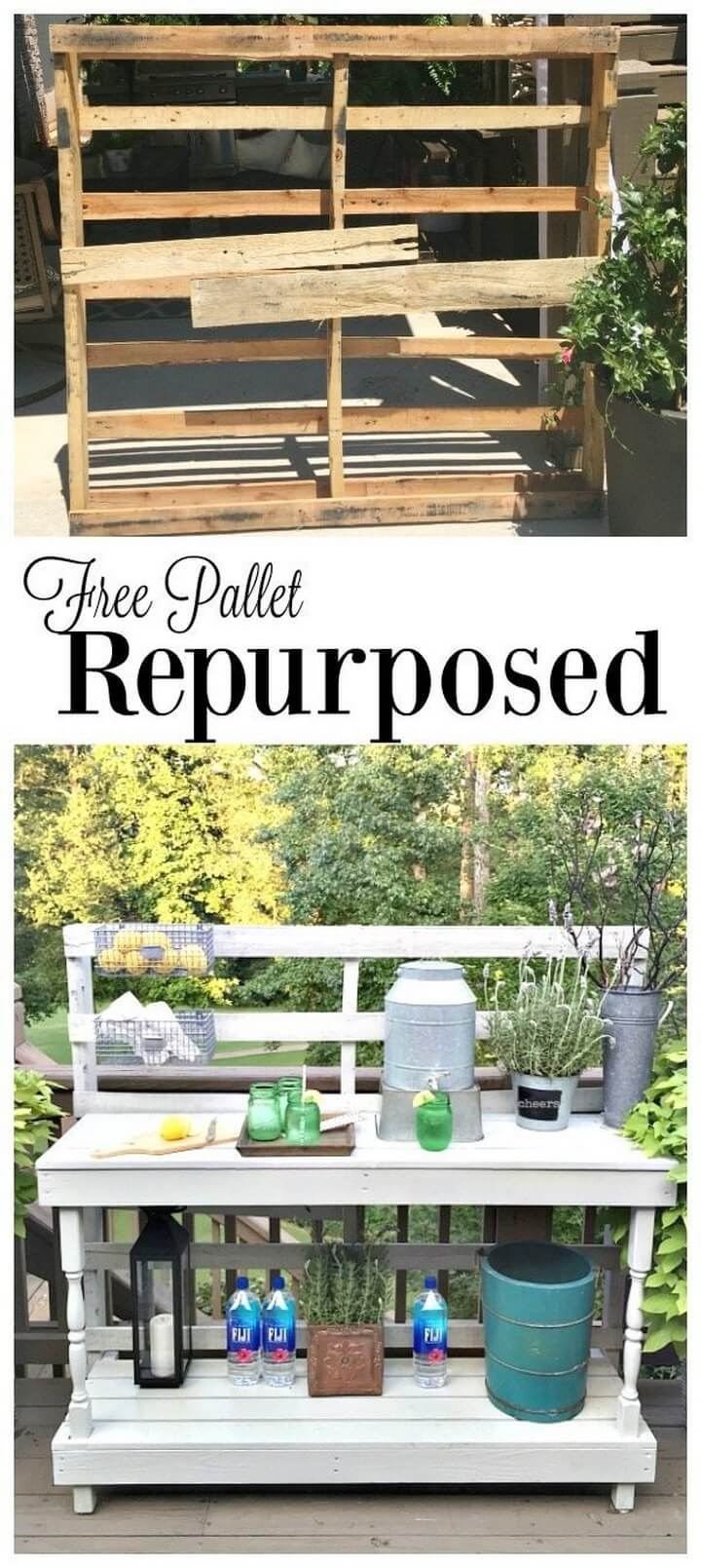 Pallet Potting Table DIY