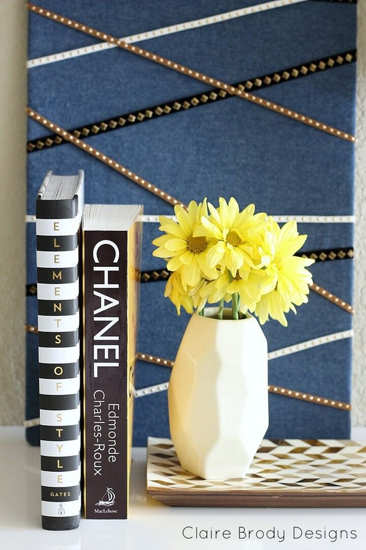 Quick and Chic DIY Fabric Covered Bulletin Board