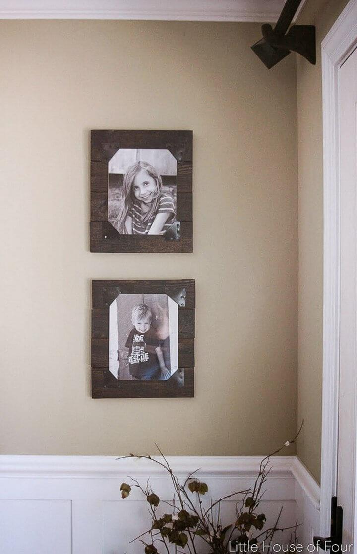 Rustic Pallet Frames DIY