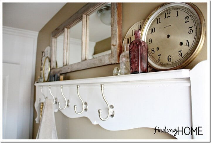 Towel Rack Shelf DIY