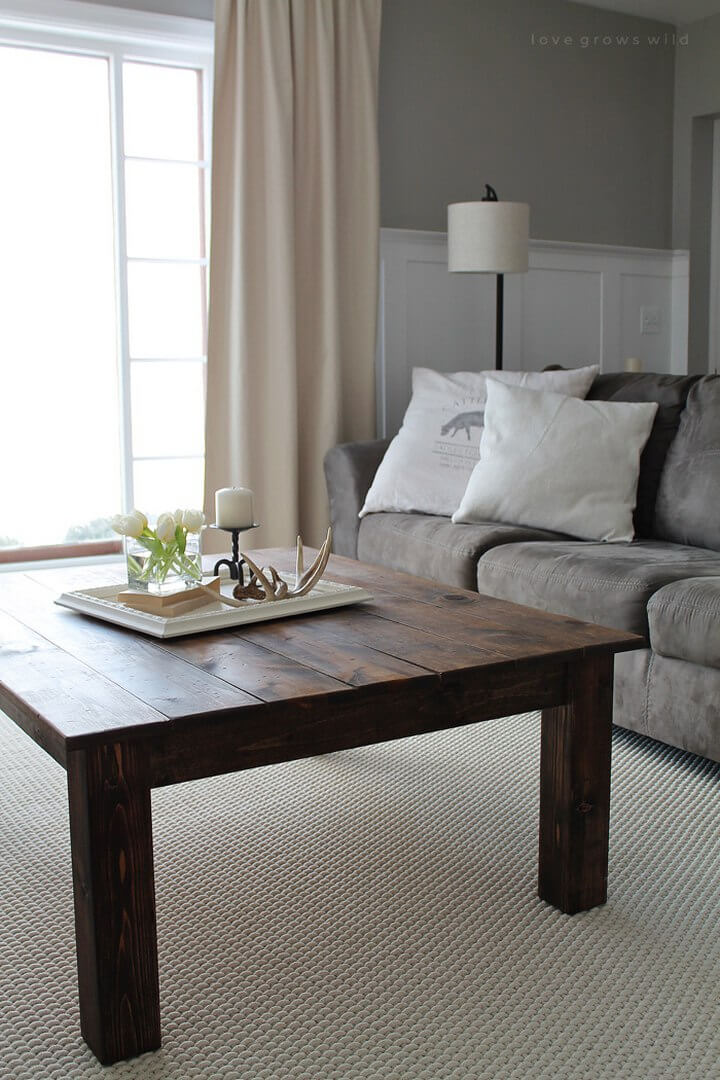 Vintage DIY Farmhouse Coffee Table