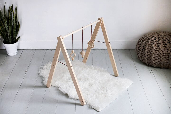 Wooden Baby Gym DIY