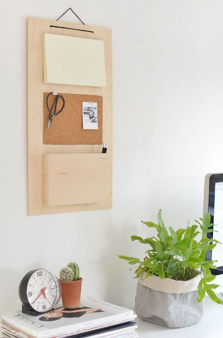 Wooden Command Center Board DIY