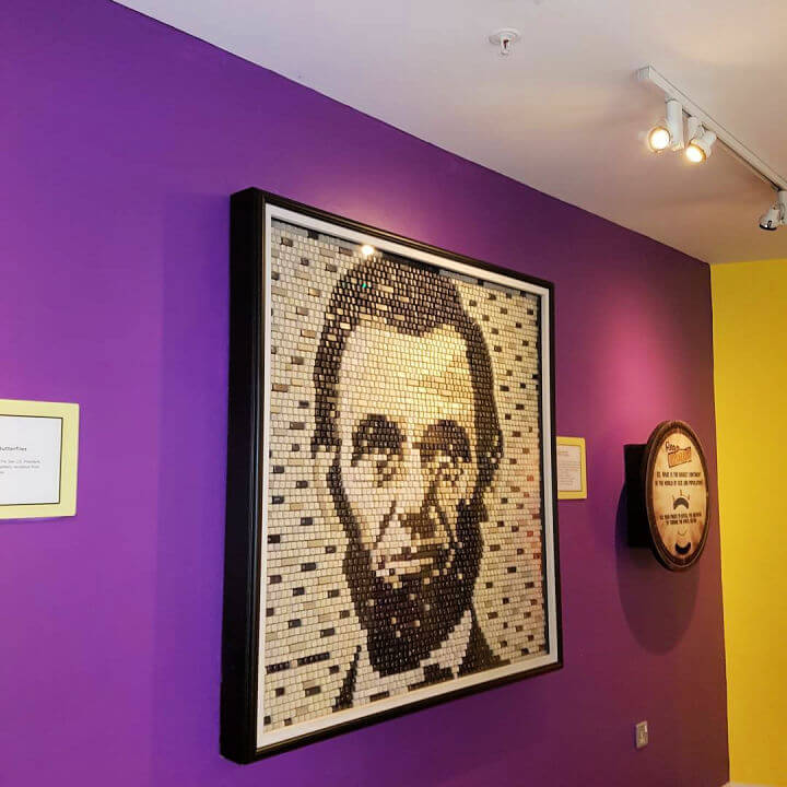 Abraham Lincoln Made From Keyboard Keys