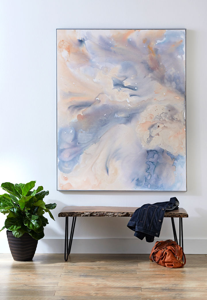 Abstract Watercolor Canvas Art