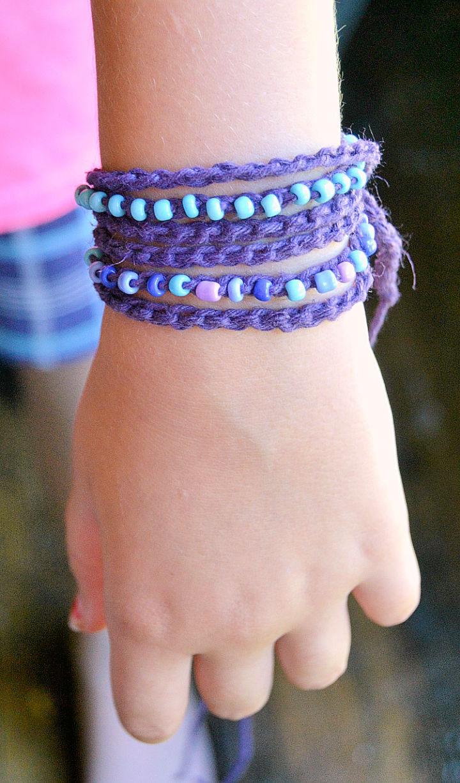 Beaded Wrap Crochet Bracelets