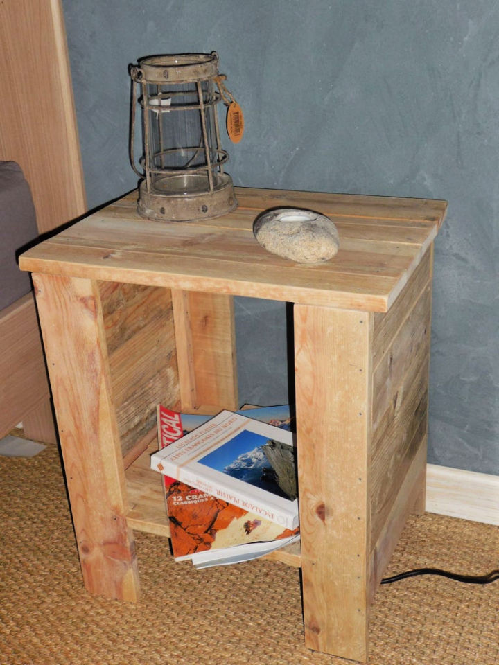 Bedside Table from Wooden Pallet