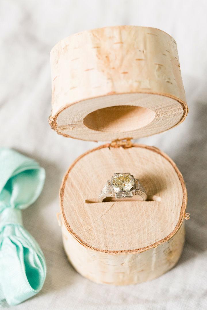 Birch Log Ring Box