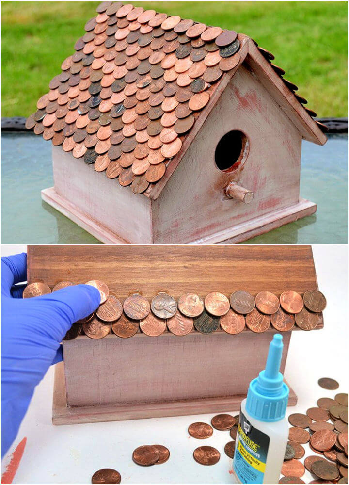 Birdhouse with Penny Roof