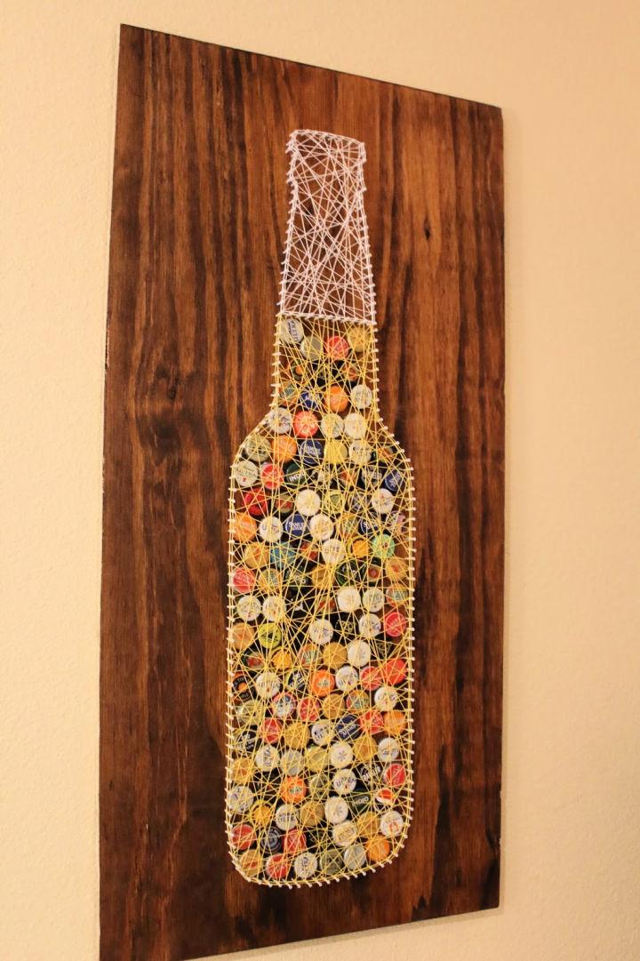 Bottle Cap String Art